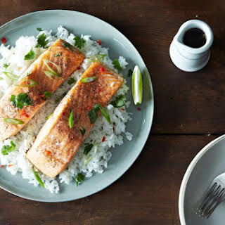 Roasted Salmon with a Cheat's Vietnamese Caramel Sauce.