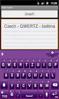 Screenshot of SlideIT Czech QWERTZ Pack