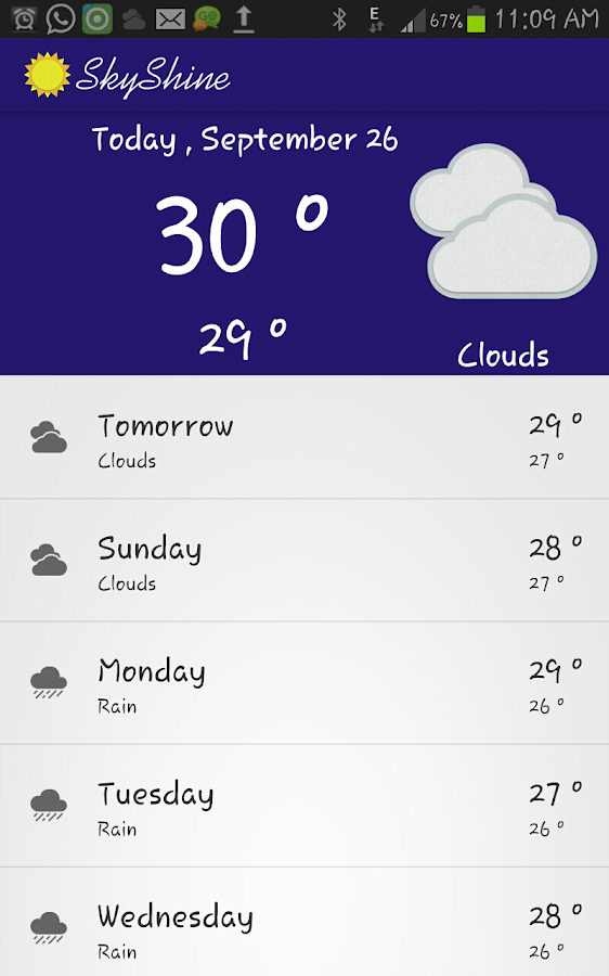 SkyShine-Weather Forecasting- screenshot