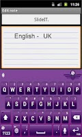 Screenshot of SlideIT English UK pack