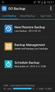 GO Backup Pro Screenshot