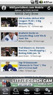 NWSportsBeat News and Rumors - screenshot thumbnail