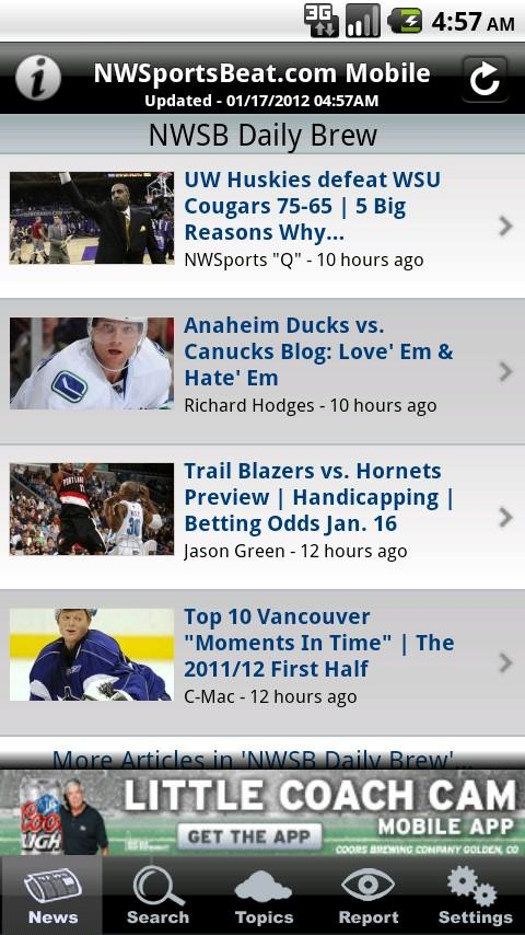 NWSportsBeat News and Rumors - screenshot