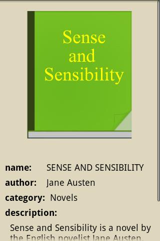 SENSE AND SENSIBILITY- screenshot