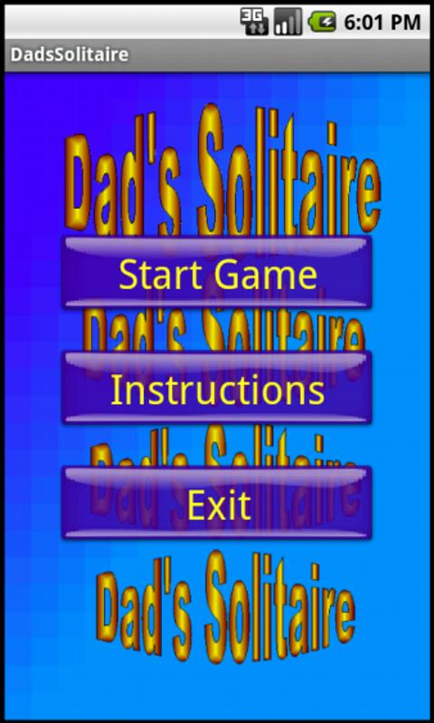 Dad's Solitaire - screenshot