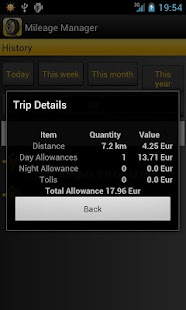 Mileage Manager - GPS Tracker - screenshot thumbnail