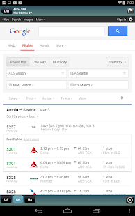 Frugal Flyer w/ Google Flights - screenshot thumbnail