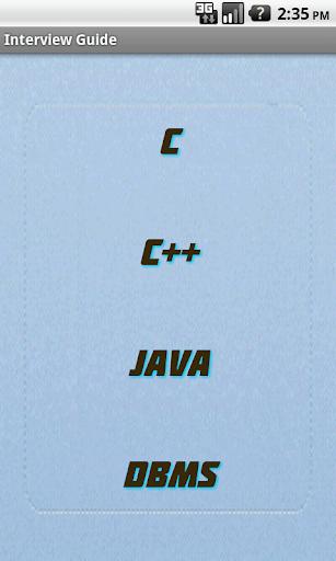Interview C C++ JAVA DBMS