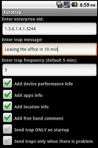 SNMP Trap Agent- screenshot