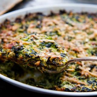 Zucchini and Spinach Gratin