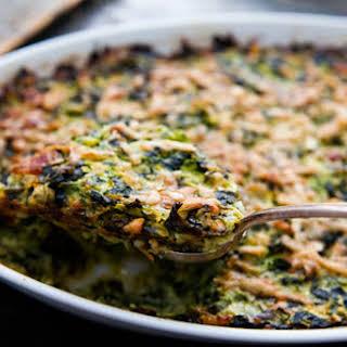 Zucchini and Spinach Gratin.