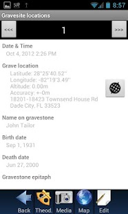 Grave site location- screenshot thumbnail