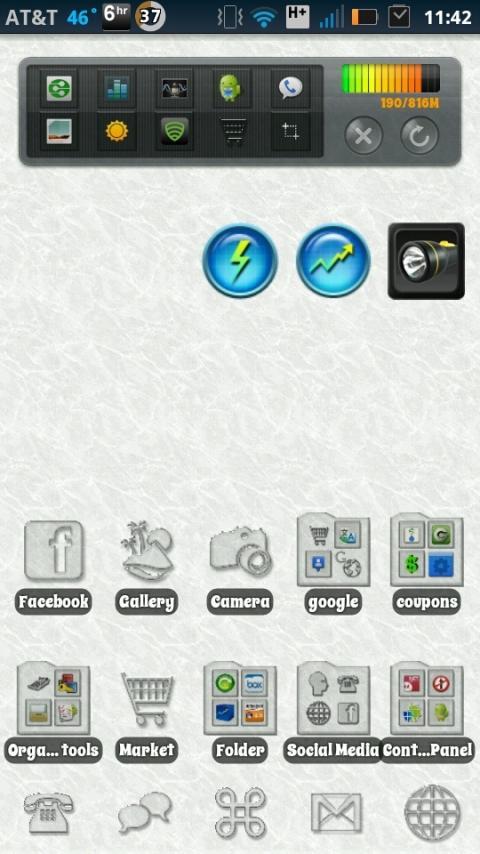 Transparent Ice Theme- screenshot
