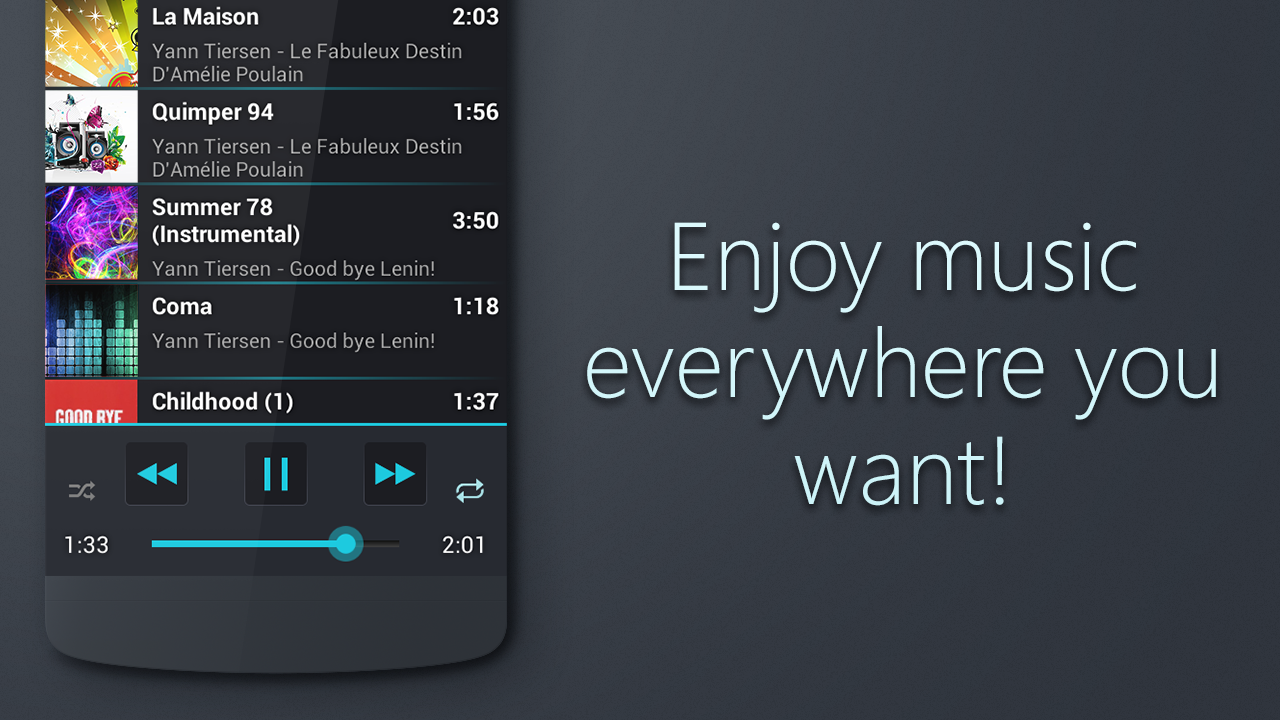 Music Paradise Player - screenshot