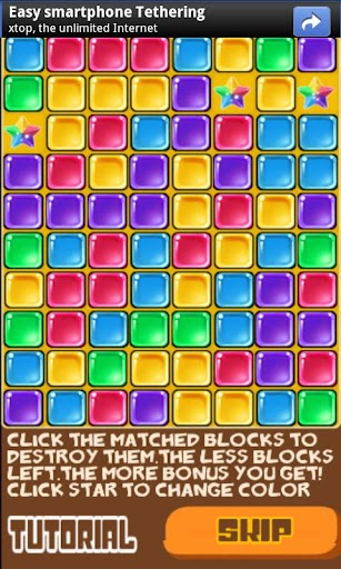 Glass Match Blast screenshot for Android