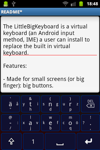 Little Big Keyboard- screenshot