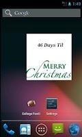 Screenshot of The Christmas Countdown Widget