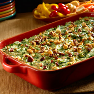 Green Flag Spinach Artichoke Dip.