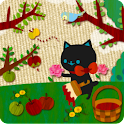 A cat and Apples Live Wallper