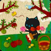 A cat and Apples Live Wallper