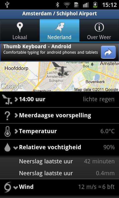 Weer - screenshot