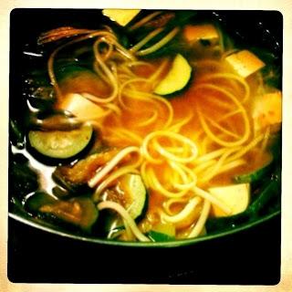 Kimchi Udon Noodle Soup.