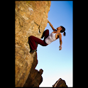Rock climbing illustrated logo