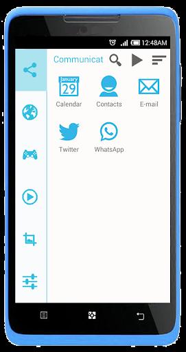 【免費個人化App】SL Beautiful Cyan Theme-APP點子
