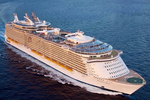 A top view of Allure of the Seas. In summer 2015, the ship will sail the Mediterranean, departing round trip from Barcelona and Civitavecchia near Rome.