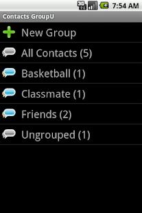 Contacts GroupU (Free) - screenshot thumbnail