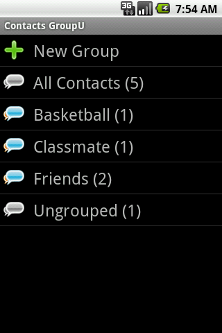 Contacts GroupU (Free) - screenshot