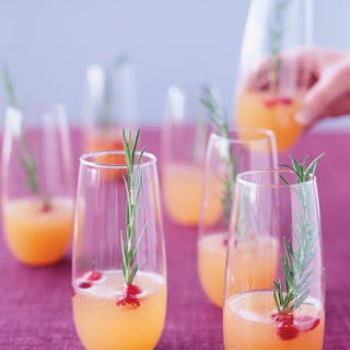 Sparkling Pear and Cranberry Cocktail.