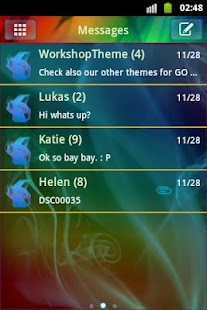 GO SMS Pro Theme Smoke Fire - screenshot thumbnail