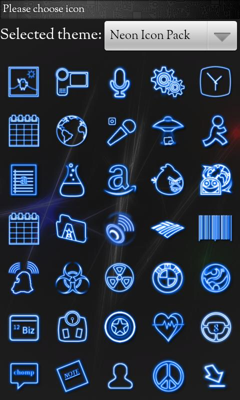 Icon Pack - Neon Icons- screenshot