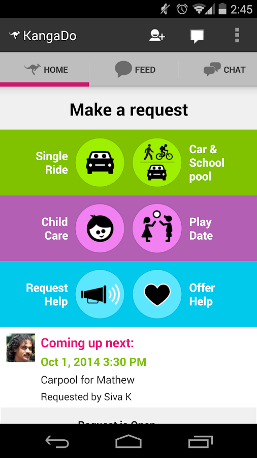 KangaDo Parent Assistant- screenshot