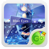Blue Eyes GO Keyboard Theme