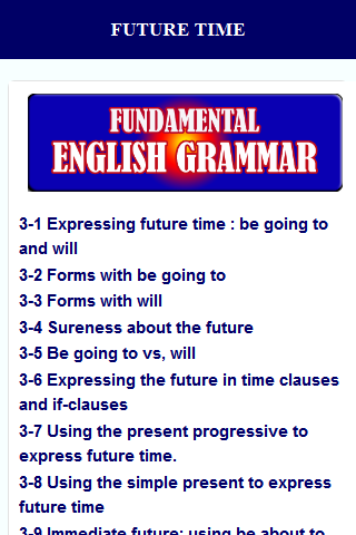 English Grammar- screenshot