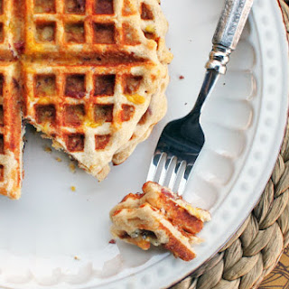 Bacon, Egg & Cheese Stuffed Waffles