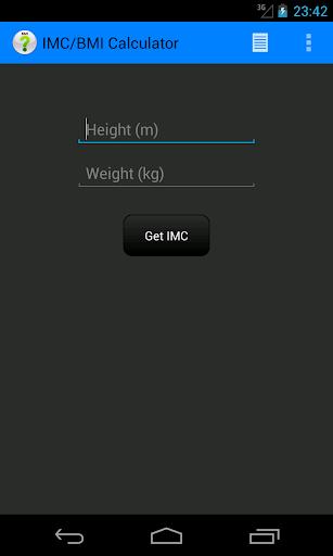 IMC BMI Calculator