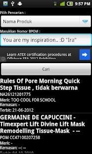 Cek Nomor BPOM - screenshot thumbnail