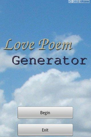 Love Poem Generator (Free) - screenshot