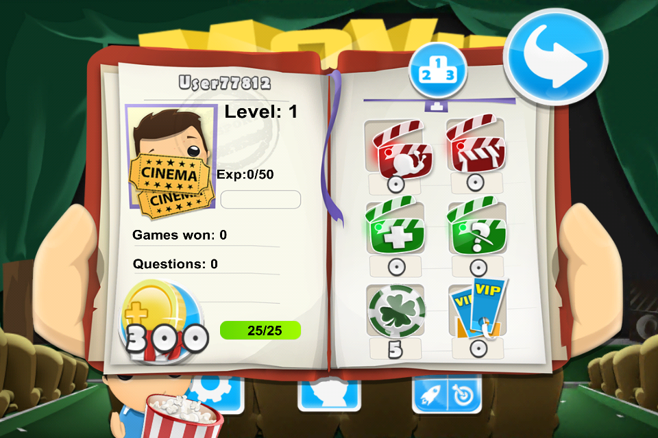 Movie Quiz Game 3D - screenshot