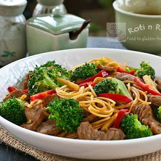 Broccoli Beef Noodles.
