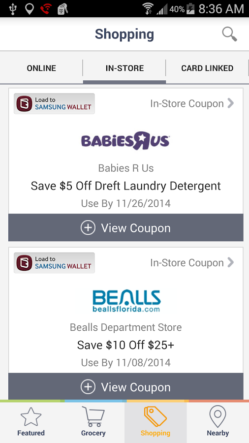 Coupons, Codes, Deals & Saving - screenshot