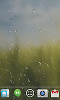 Screenshot of Rain drop live wallpaper