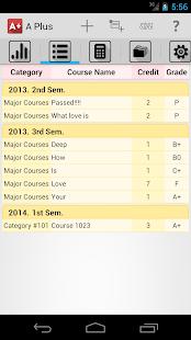 Grade Calculator (GPA) screenshot