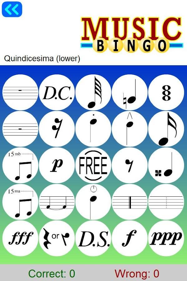 Learn Music Symbols With Bingo Android Aplikacije Na Google Playu