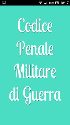 Codice Penale Militare Guerra