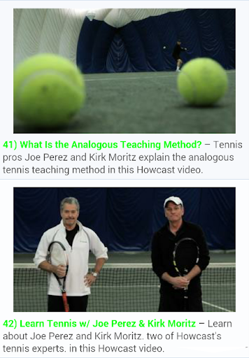 Free Tennis Lessons