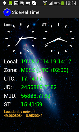 Astronomy Sidereal Time